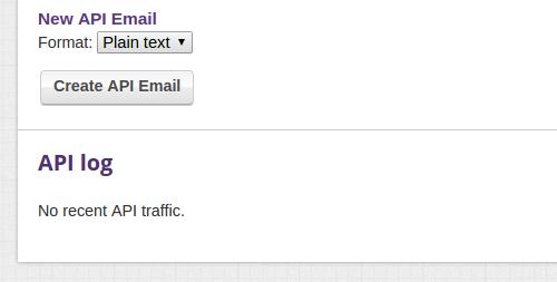 JSON Event Email API